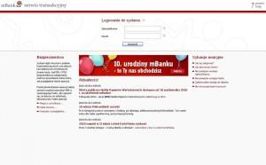 mBank strona logowania